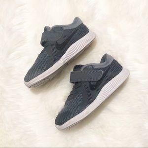 Toddler Boy Nike Gray Velcro Sneakers